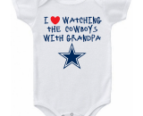 Dallas Cowboys I Love Watching The Cowboys With Grandpa Baby Onesie or Tee Shirt