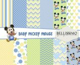 Baby Mickey Mouse Paper Pack: Scrapbook Paper, PRINTED, 12 Sheets