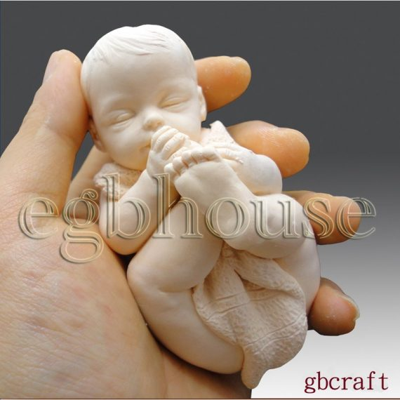 3D Silicone Soap Mold-Baby Sucking on its toes (2 parts mold)-free shipping
