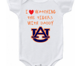 Auburn Love Watching With Daddy Baby Onesie or T-shirt