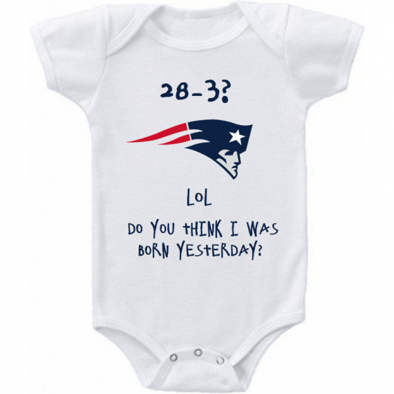 New England Patriots Funny Super Bowl Baby Onesie Or Tee
