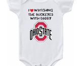 Ohio State Buckeyes Love Watching With Daddy Baby Onesie or T-shirt