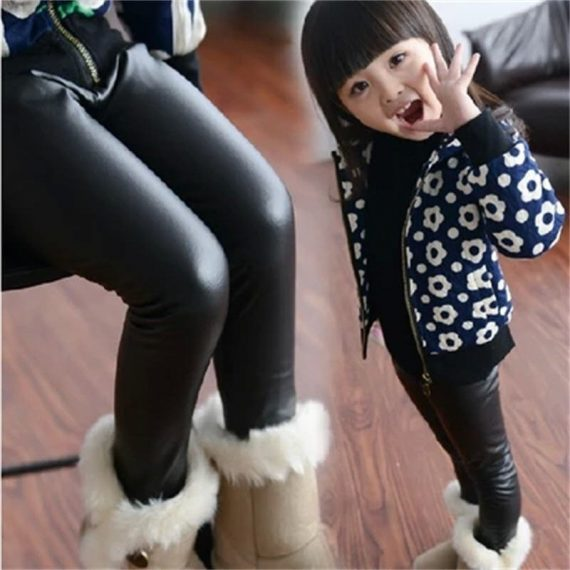 Children's Clothing Baby Kids Leather Pants  Black Navy Skinny Toddler Leggins A248/Girls Faux Leather Pants