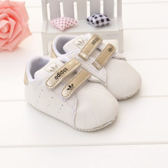 White&Gold Baby Sports Toddler Shoes Infant Walking Shoes A182