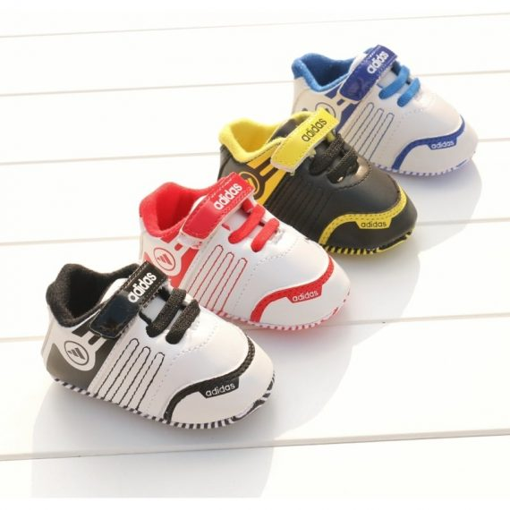 Mixed Color Baby Soft Bottom Walking Shoes Leather Sports Shoe A187 Toddler Shoe