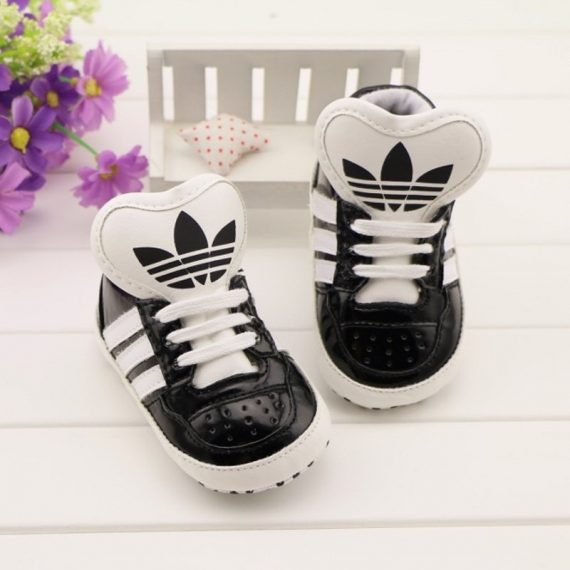 Baby Black Sports Shoes Soft Bottom Newborn Baby Toddler Shoes A193