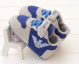 Free Shipping Baby Walking Shoes Blue Leather Infant Toddler Shoes A180