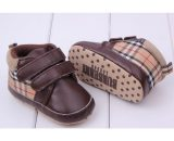 Free Shipping Leather Baby Soft Bottom Room Shoes Infant Toddler Shoes B0038