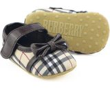 Coffee Baby Bowknot Dress Toddler Shoes Soft Bottom Room Walking Shoes B195