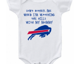 Buffalo Bills Don't Bother Me Watching With Mommy Baby Onesie or Tee Heart
