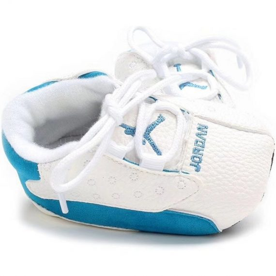 Blue/White Baby Soft Walking Shoes Sports Style Baby Toddler Shoes J8067