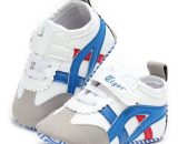 White/Blue Baby Sport Shoes Soft Bottom Newborn Room Shoes  1055