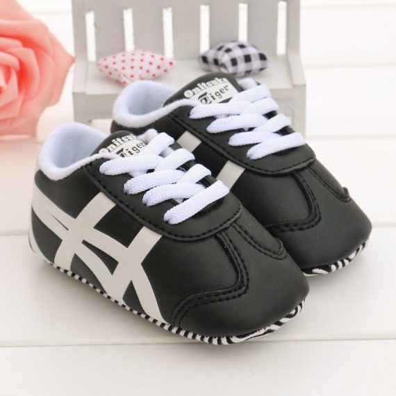 Boys Black Sports Walking Shoes Infant Toddler Shoes Sot Bottom Baby Shoes T181