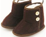 Beige and Brown Winter Infant Soft Warm Boots Baby Toddler Shoes Boots G157