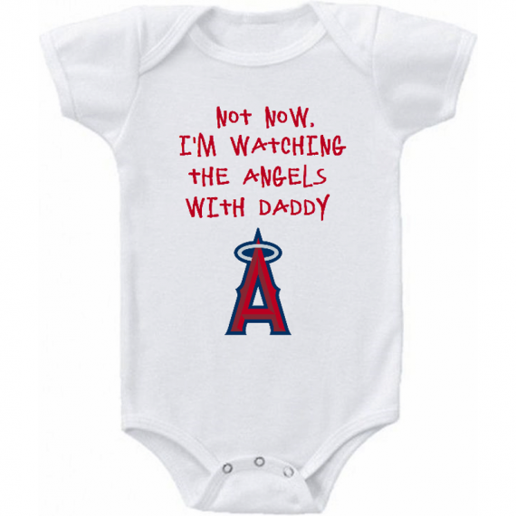 Los Angeles Angels of Anaheim Watching With Daddy Baby Onesie or Tee Shirt
