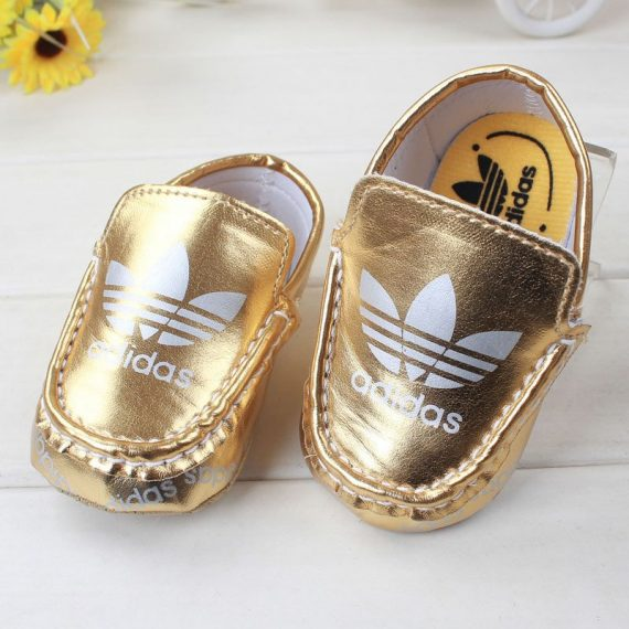 Baby Girls Toddler Shoes Soft Baby Boys Walking Shoes Gold A74