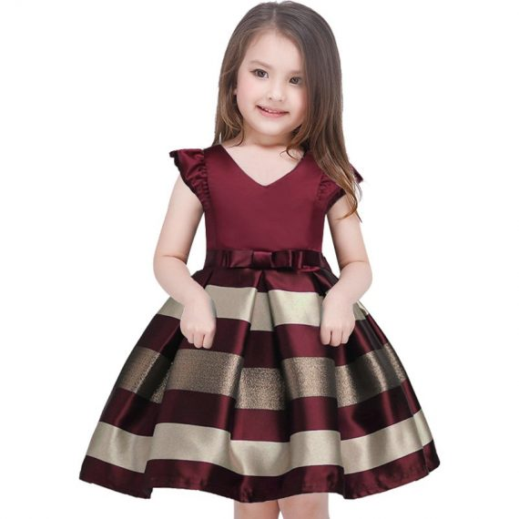 Girl dress Baby girl reception formal dresses girl party 2017 Christmas clothes