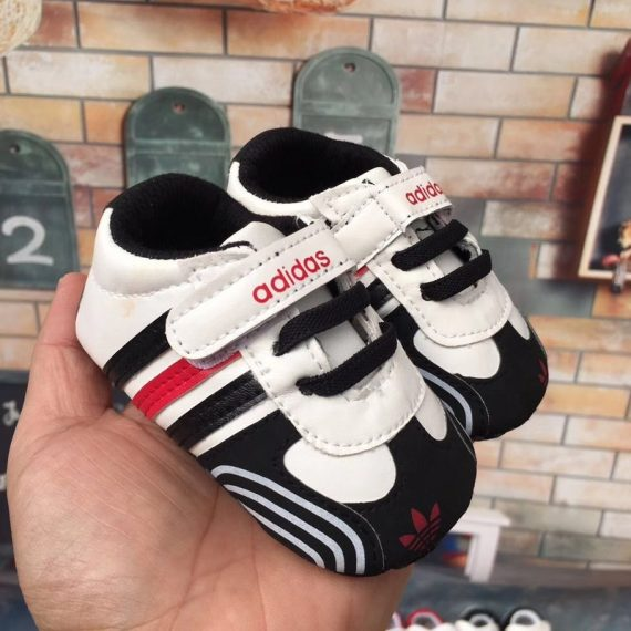 Black Fashion Baby Walking Shoes Soft Bottom Baby Toddler Shoes A5558