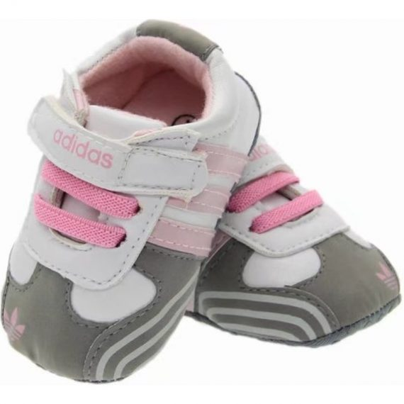 Pink/Gray Baby Girls Toddler Shoes Soft Bottom Leather Toddler Shoes A5558