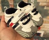 Newborn Gray Boys Toddler Shoes Soft Baby Room Shoes  A5558