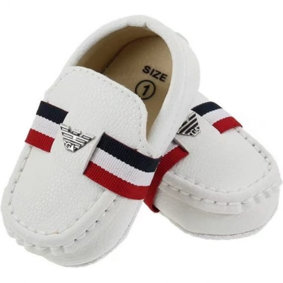 White Baby Toddler Shoes Soft Bottom Dress Shoes 0-18M Baby Shoe A5559