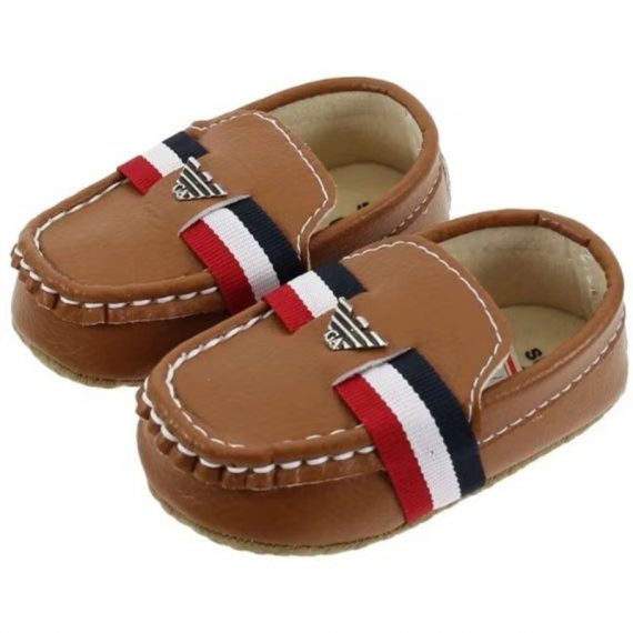 Brown Baby Boys Dress Shoes 0-18M Toddler Shoes Leather Shoes A5559